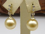Alisa South Sea Pearl and Diamond Earrings