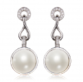 Mabe South Sea Pearl and Diamond Earrings