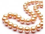 Pink Freshwater Pearl Necklace 9-10 mm AA+