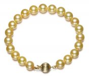 7.5-8 mm Golden Japanese Akoya Cultured Pearl Bracelet