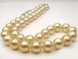 9-11 mm Golden South Sea Pearl Necklace AAA