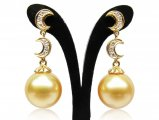 Elvira South Sea Pearl and Diamond Earrings