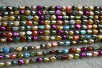 5-6 mm mm Multicolor Freshwater Keshi Pearl Necklace