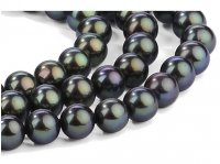 7-8 mm Triple Strand Black Pearl Necklace