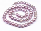 Lavender Freshwater Pearl Necklace 7-8 mm AA+
