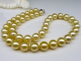 9-11 mm Golden South Sea Pearl Necklace