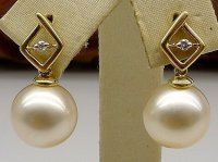 Murray South Sea Pearl and Diamond Earrings