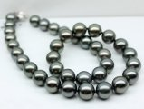 10-12 mm Tahitian Pearl Necklace Round AAA
