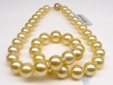 10-14 mm Golden South Sea Pearl Necklace AAA