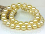 9-11.5 mm Golden South Sea Pearl Necklace AAA