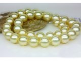 11-14 mm Golden South Sea Pearl Necklace AAA