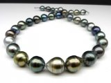 10-12 mm Drop Multicolor Tahitian Pearl Necklace