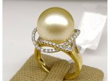 Carey South Sea Pearl and Diamond Ring .45Ct
