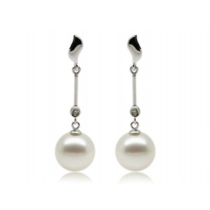 Helene South Sea Pearl and Diamond Earrings