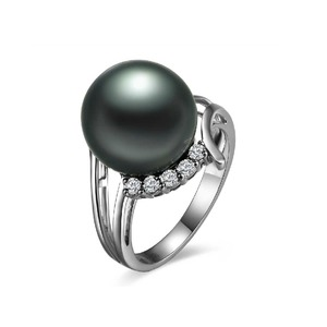 Laurie Tahitian Pearl and Diamond Ring