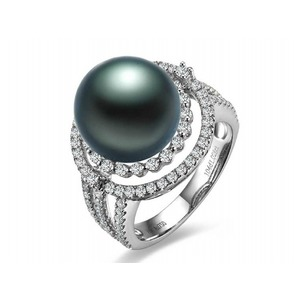 Emilien Tahitian Pearl and Diamond Ring