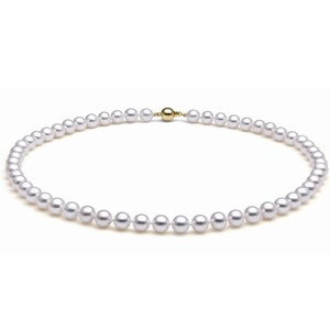 6-6.5 mm White Cultured Akoya Pearl Necklaces