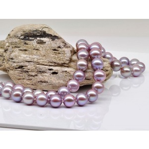 Lavender Freshwater Pearl Necklace 8-9 mm AA+