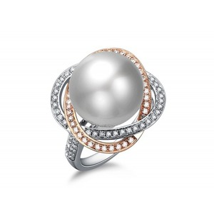 Ombeline South Sea Pearl and Diamond Ring