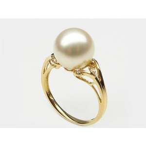 Ethel South Sea Pearl and Diamond Ring