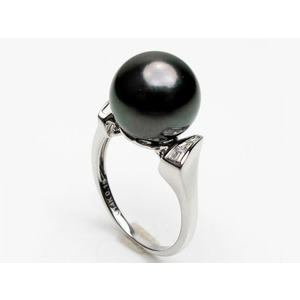 Odilon Tahitian Pearl and Diamond Ring