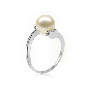 Isidore Akoya Pearl and Diamond Ring