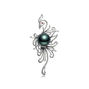 Phoenix Tahitian Pearl and Diamond Pendants