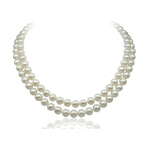 8-8.5 mm Double-Strand White Akoya Pearl Necklace