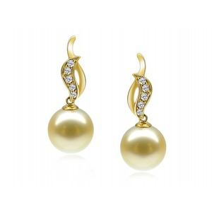 Clementine South Sea Pearl and Diamond Earrings
