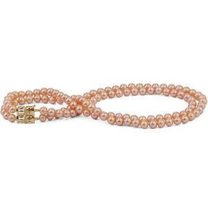 9-10 mm Double Strand Pink Pearl Necklace AAA