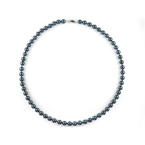 Black Freshwater Pearl Necklace 6-7 mm AAA