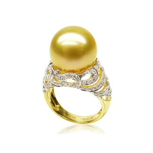 Capucine South Sea Pearl and Diamond Rings