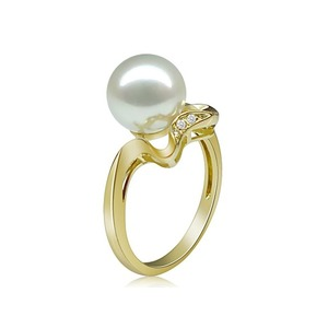 Fabiola Akoya Pearl and Diamond Rings