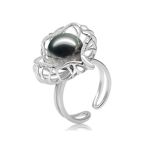 Maureen Tahitian Pearl and Diamond Ring