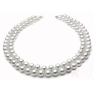 7-7.5 mm Double-Strand Akoya Pearl Necklace