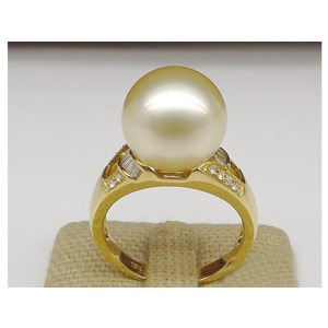 Dahlia South Sea Pearl and Diamond Ring