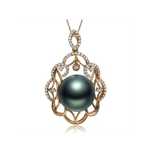 Tahitian Pearl & Diamond Pendants