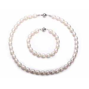 9-10 mm Drop Freshwater Pearl Set