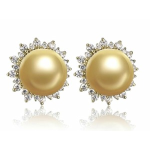 Martin South Sea Pearl and Diamond Earrings