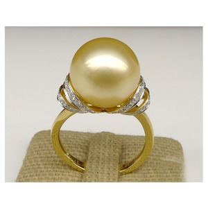 Darleen South Sea Pearl and Diamond Ring