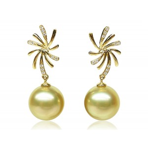 Octavien South Sea Pearl and Diamond Earrings