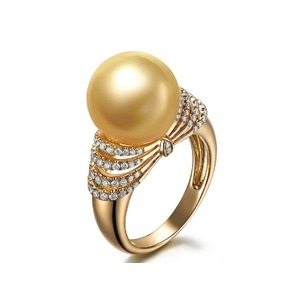 Eliette South Sea Pearl and Diamond Ring