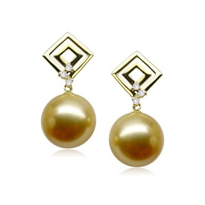 Dolores South Sea Pearl and Diamond Earrings