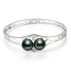 11-12 mm TAHITIAN Pearl Bangle Bracelet