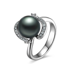 Huguette Tahitian Pearl and Diamond Ring