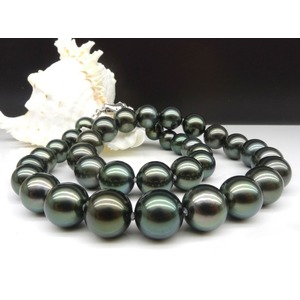 10-12 mm Black Tahitian Pearl Necklaces