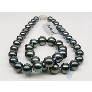 10-12 mm Round Tahitian Pearl Necklaces