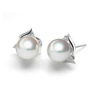 Reine South Sea Pearl and Diamond Earrings