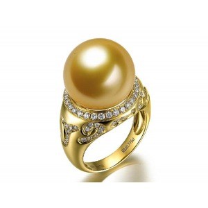 Raina South Sea Pearl and Diamond Ring