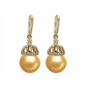 Tabath South Sea Pearl and Diamond Earrings
